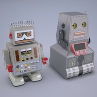 Vintage Style Japan Collectible Electron Robot Toy