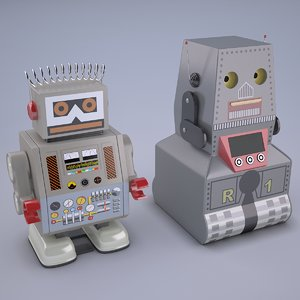 electron japan toy 3D model