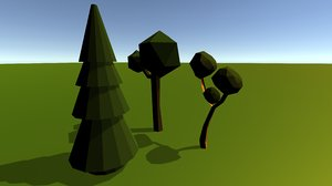 3D trees vegetation model