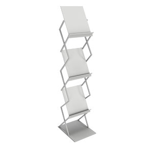 trade booth magazine rack 3D model