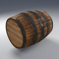 old worn wooden barrel model