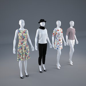 3D mannequins clothes model