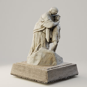 photoscaned sculpture 3D model