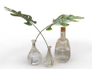 glass bottles 3D model