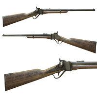 sharps rifles old 3D model