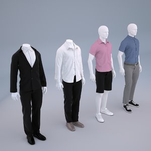 mannequin men cloth shop 3D model