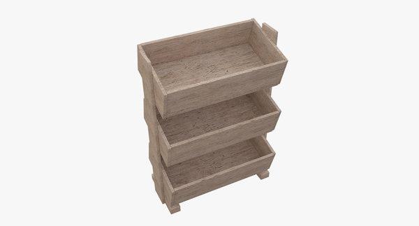 old wood 3D model