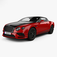 3D bentley continental gt model
