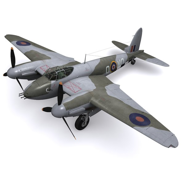 3D model dh mosquito bomber fb