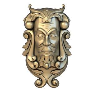 mask basrelief stl 3D