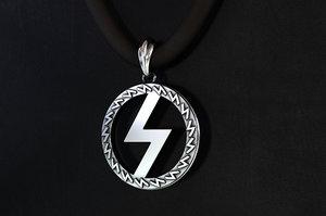 silver pendant runes power 3D model