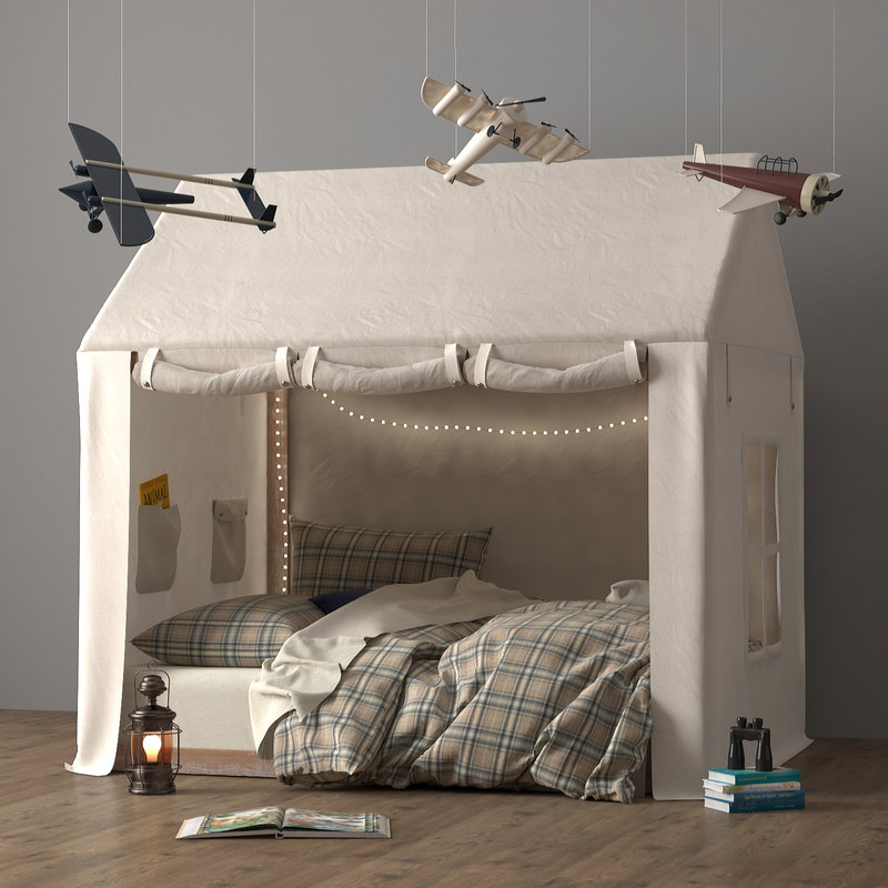 3D tented bed model