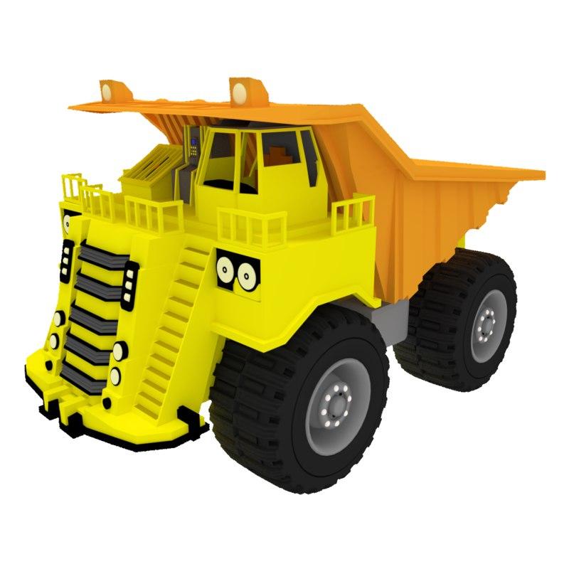 Big Dump Trucks >> 3d Model Mining Truck Big Dump Turbosquid 1343482