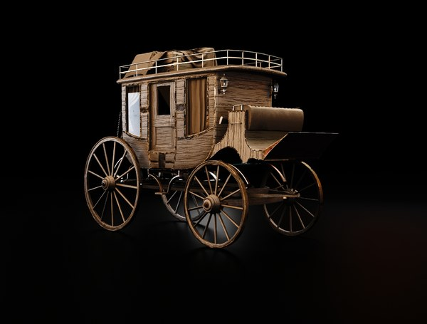 3D stage coach model