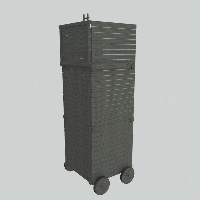 3D siege tower 8 5