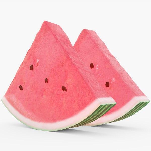 3D watermelon slice melon