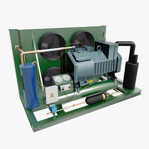 3D compressor condenser machine model