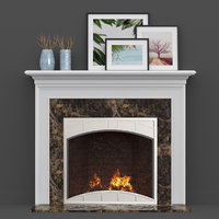 wood fireplace mantels heatilator 3D model