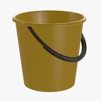 3D bucket plastic