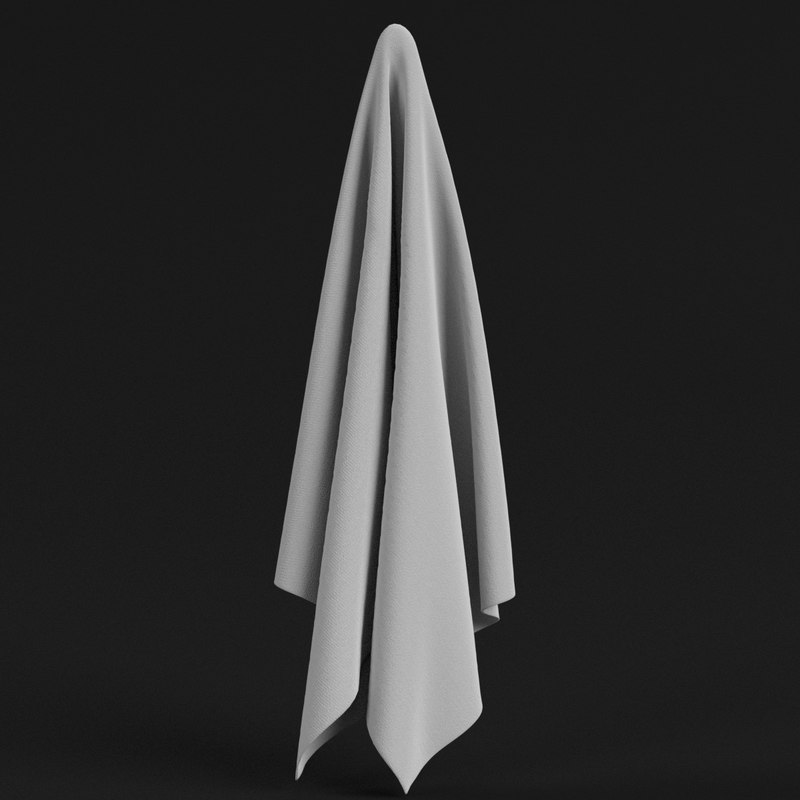 3D model towel ready