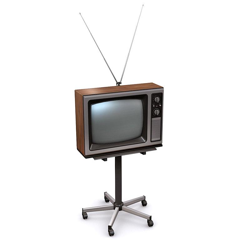 3D vintage television