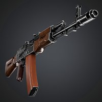 low-poly ak-74n ak 3D