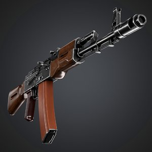 low-poly ak-74n ak 3D