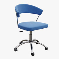 Swivel chair with upholstered seat NEW YORK Connubia Calligaris