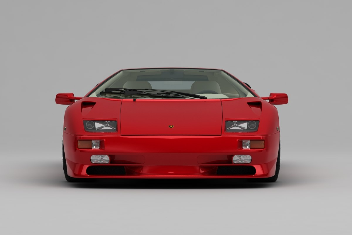 Lamborghini Diablo Sv Model Turbosquid 1343507
