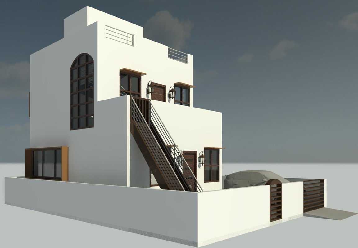 small independent house 3D