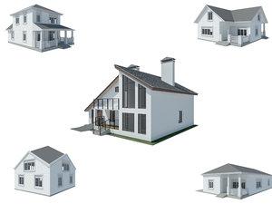 house vrayforc4d model