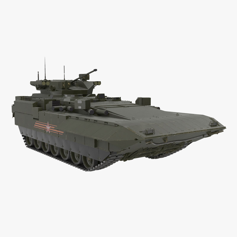 3D t-15 armata green clean model