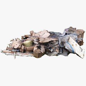 3D furniture rubbish debris
