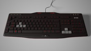 3D model logitech g105 keyboard