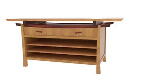 homestyle japanese table hollow 3D