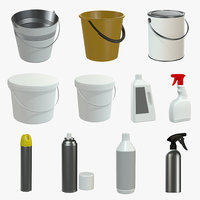 3D bucket paint industrial
