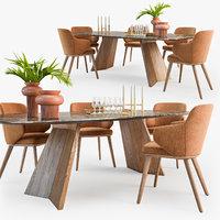 Calligaris Foyer armchair Icaro table set01