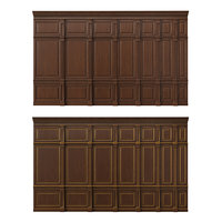 3D wooden panels wood wall model