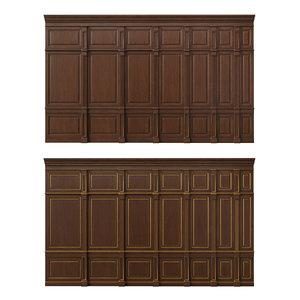 3D wooden panels wood wall model