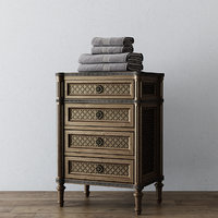 obj short bath cabinet louis xvi