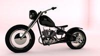 bobber motorcycle 3D model
