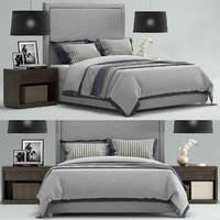 RH Wallace Upholstered Bed