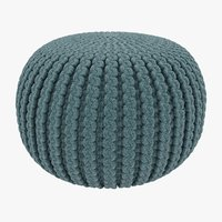 knitted pouffe model