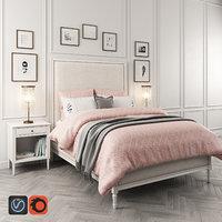 3D maelin upholstered bed table lamp model