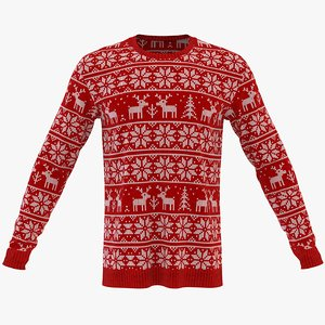men winter neck sweatshirt 3D