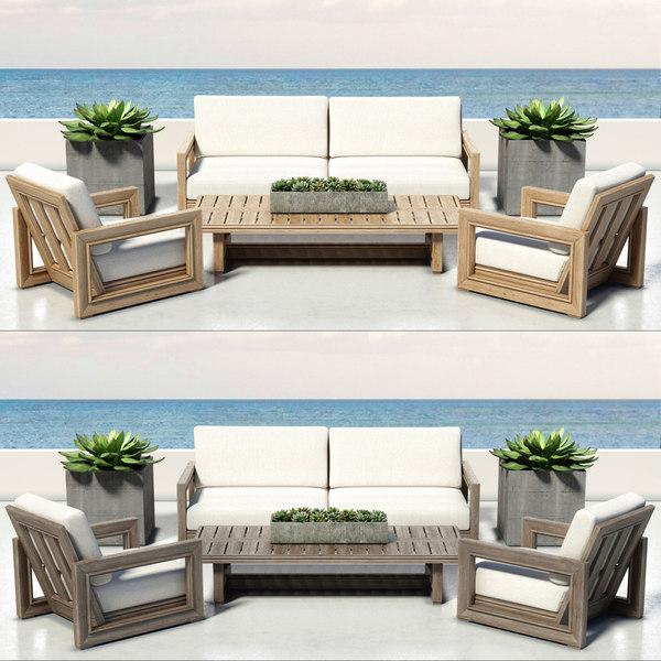 outdoor furniture costa 3d max