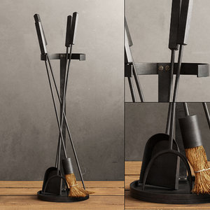 3d industrial hearth tool set model