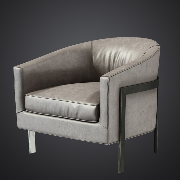 3d model of reginald leather chair