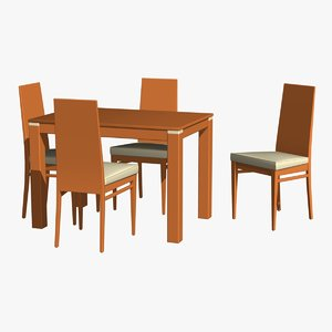 table chairs 1 3D model