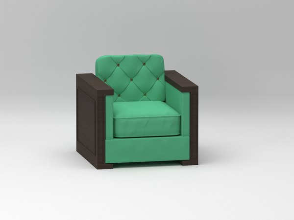 3D poltrona armchair design model